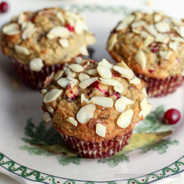 Cranberry Almond Crumb Muffins | Low Carb, Gluten-free, Dairy-free, THM | lowcarbmaven.com