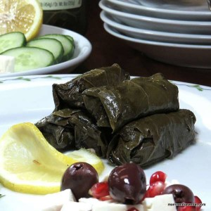 Stuffed Grape Leaves are a great finger food. These are made of ground beef and are 1 carb per roll. They are delicious! | Low Carb, Gluten-free. Dairy-free, Paleo, Keto | lowcarbmaven.com