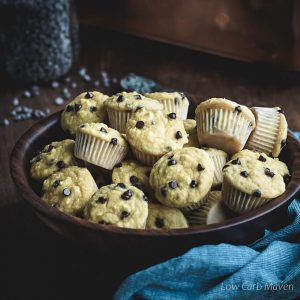 Healthy Mini Chocolate Chip Muffins (Coconut Flour Chocolate Chip Muffins)