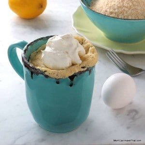 Low Carb Lemon Mug Cake Mix (Sugar-free Lemon Cake Mix)