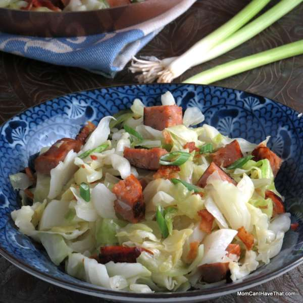 Super Easy Sausage and Cabbage is my go-to meal. Want a fast week night meal? Look no further! | Low carb, Gluten-free, Dairy-free, Paleo | http://lowcarbmaven.com