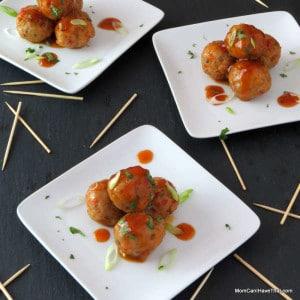 Asain Pork And Shrimp Party Meatballs | A Great Appetizer! | http://lowcarbmaven.com