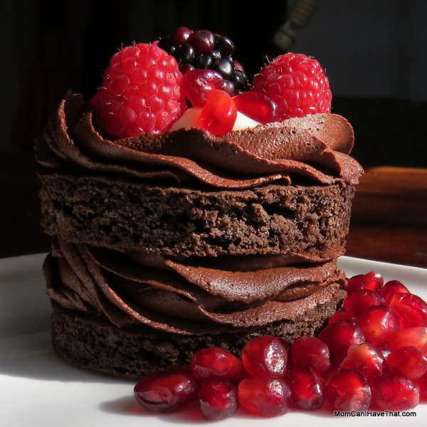 Dark And Seductive Triple Chocolate Cake With Berries And Coconut