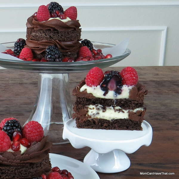 Triple Dark Chocolate Cake With Berries - Low Carb