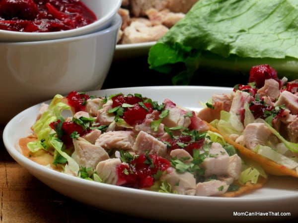 Turkey Cranberry Tostadas On A Plate
