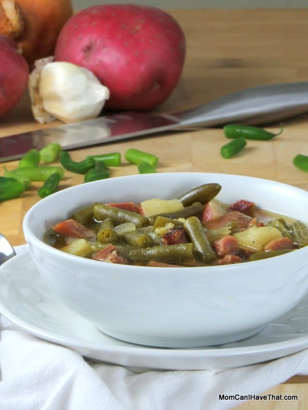 Low Carb, Hearty Ham and Green Bean Soup | Low Carb, Gluten-free, Dairy-free | Momcanihavethat.com