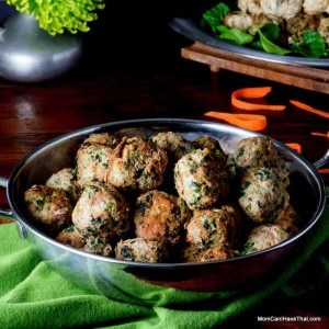 Low Carb Curried Turkey Spinach Meatballs