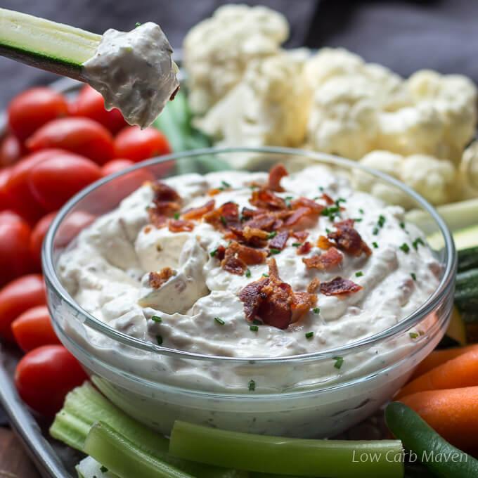 Creamy Bacon Horseradish Dip (Low Carb Dip For Veggies)