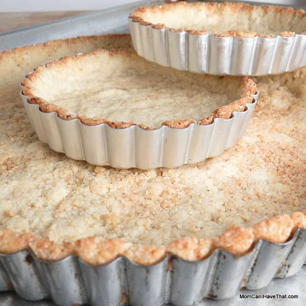 This Almond-Coconut Tart Crust is nice with coconut milk pastry cream, lemon curd and fresh fruit   Low carb, Gluten-free, Casein-Free   lowcarbmaven.com