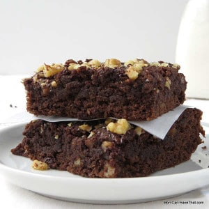 Grain-free, Chocolate Banana Bread Brownies