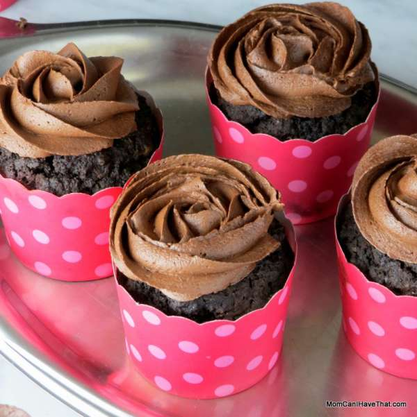 Chocolate Crazed Espresso Cupcakes are low carb, gluten-free & casein-free. Satisfy any chocolate craving! | lowcarbmaven.com