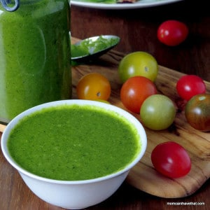 Basil & Mint Vinaigrette is a great dressing and marinade for salad, vegetables, meat & fish | low carb, gluten-free, dairy-free, Paleo | lowcarbmaven.com