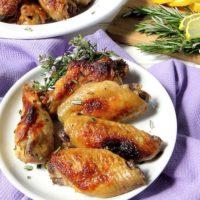 Lemon Garlic & Rosemary Chicken Wings | lowcarbmaven.com