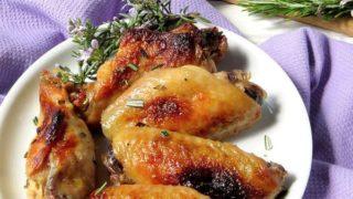 Lemon, Garlic Rosemary Chicken Wings