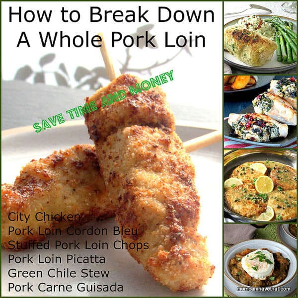 How To Break Down A Whole Pork Loin and save yourself time and money | lowcarbmaven.com