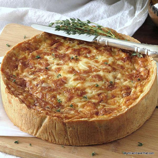 ham quiche lorraine with caramelized onions gouda low carb maven. Black Bedroom Furniture Sets. Home Design Ideas