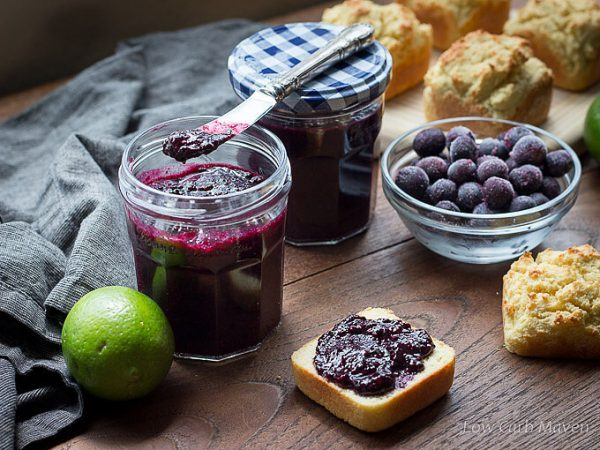Sugar-Free Blueberry Chia Seed Jam (low carb, no pectin)