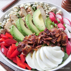Healthy Cobb Salad for One (Low Carb, Keto)