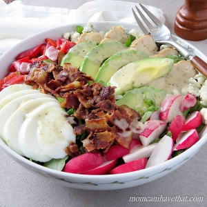 Cobb Salad is the KING of salads. At just 5 net carbs, it's a low carb dream. | low carb, gluten-free, keto | lowcarbmaven.com