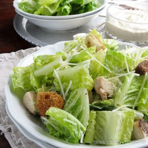Grilled Chicken Caesar Salad with a lemony dressing is a great Summer meal at 3 net carbs!| Low Carb, Gluten-free, Keto | lowcarbmaven.com