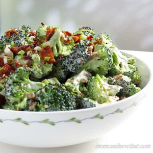 Easy, Low Carb Bacon Broccoli Salad