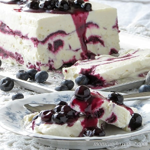 Coconut Cream Semifreddo with Blueberries is what all ice cream wishes it could be! | low carb, gluten-free, dairy-free, Paleo, Keto, THM | lowcarbmaven.com