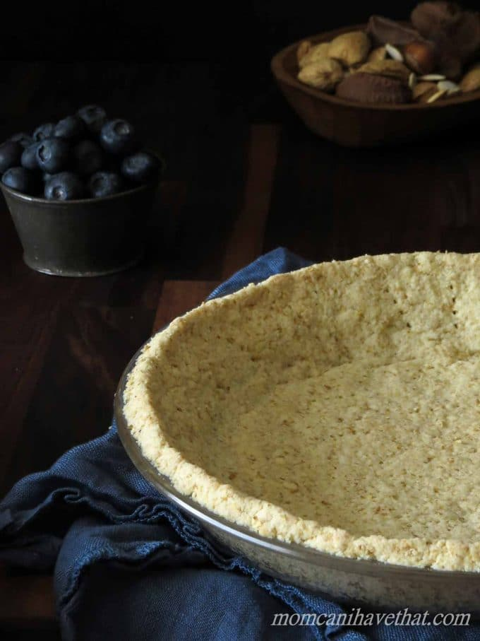 Basic Low Carb Almond Pie Crust | low carb, gluten-free, casein-free, Paleo, Keto |