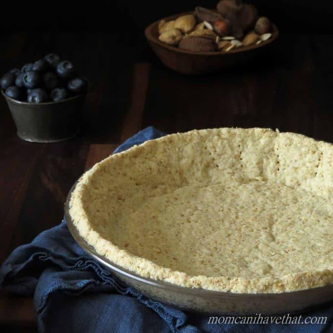Basic Low Carb Almond Pie Crust | low carb, gluten-free, casein-free, Paleo, Keto |