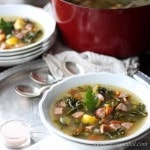 Chicken Sausage & Kale Soup | low carb,gluten-free, dairy-free, paleo | lowcarbmaven.com