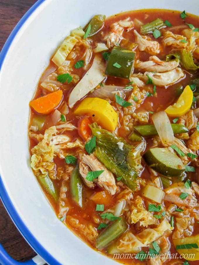 Healthy Low Carb Chicken Minestrone Soup Low Carb Maven