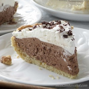 Low Carb French Silk Pie With Gluten-Free Walnut Crust