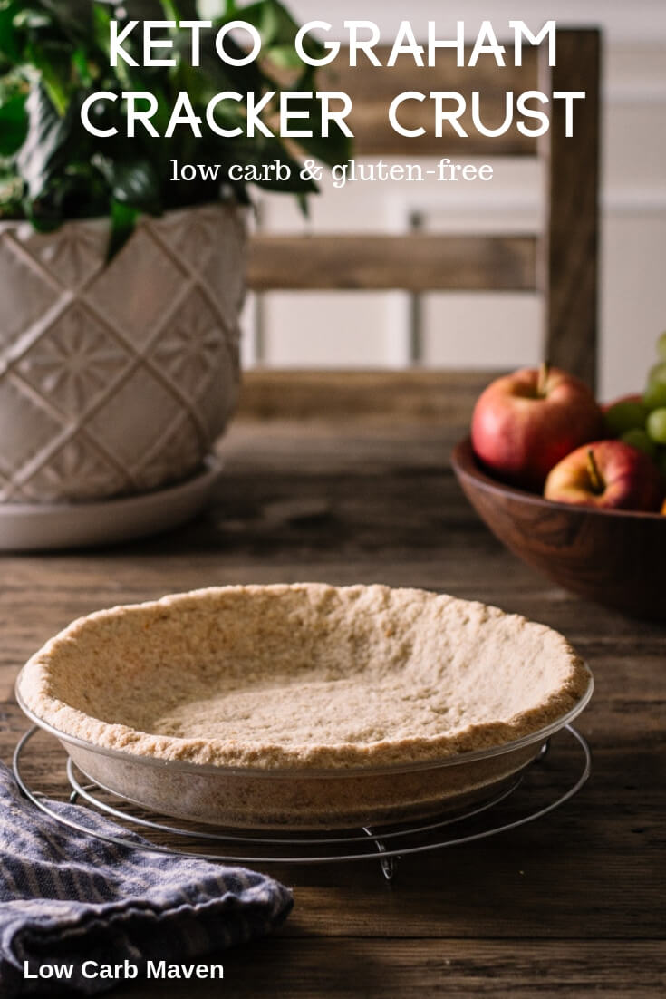 A classic graham cracker crust gets a low carb makeover with almond flour. This low carb keto graham cracker crust is the perfect keto pie crust for low carb cheesecakes and cream pies.