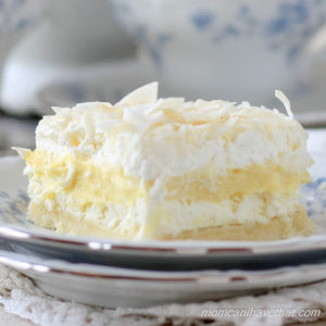 Low Carb Coconut Cream Layered Dessert (Coconut Cream Delight)