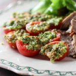Parmesan Roasted Cherry Tomatoes   low carb, gluten-free, keto, thm   lowcarbmaven.com