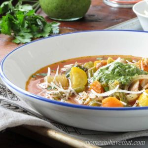 Healthy Low Carb Chicken Minestrone Soup