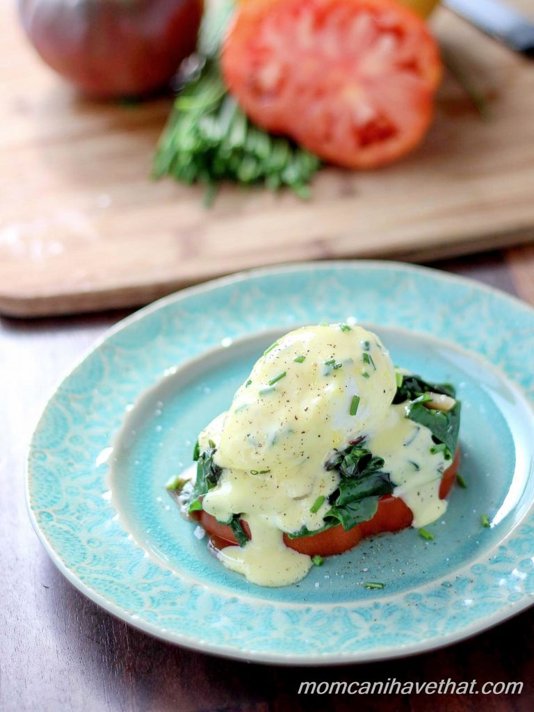 Heirloom Tomato and Swiss Chard Benedict | Low Carb, Gluten-free, Paleo, thm-s | lowcarbmaven.com
