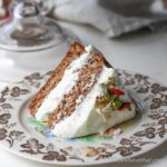 Classic carrot cake flavor with a divine whipped gingered cream cheese frosting. | Low carb, gluten-free, grain-free, Keto, THM-s with a dairy-free frosting option | lowcarbmaven.com