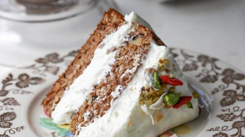Low Carb Carrot Cake Recipe With Ginger Cream Cheese Frosting