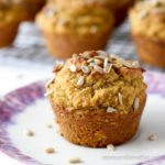 Healthy Pumpkin Spice Breakfast Muffins | Low Carb, Gluten-free, Dairy-free, Keto, thm-s | lowcarbmaven.com