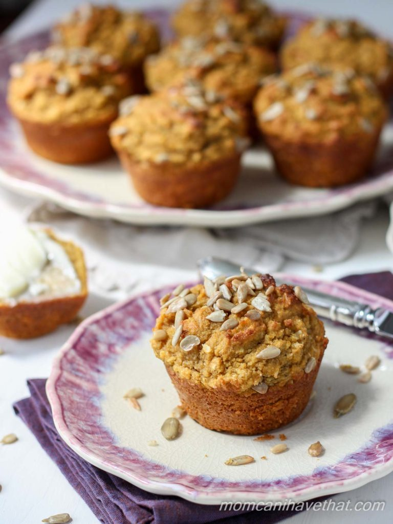 Healthy Low Carb Pumpkin Spice Muffins for Breakfast