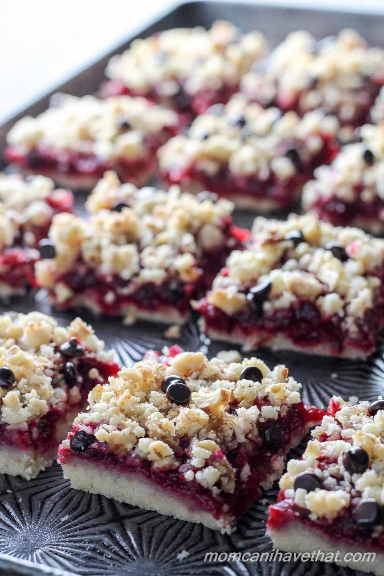 Cranberry Walnut Crumb Bars