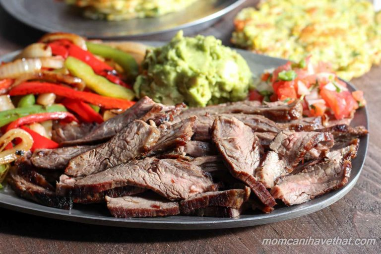 Steak fajitas in a traditional marinade is easy and always the best. | low carb, paleo, keto