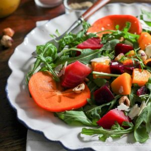 Arugula and Persimmon Salad with Citrus Vinaigrette