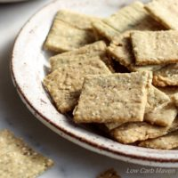 Crispy Almond Sesame Crackers | low carb, dairy-free, gluten-free, paleo, keto, thm | LowCarbMaven.com