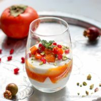 Made from wholesome ingredients, these Persimmon Yogurt Parfaits are simple and delicious!! | Low Carb Maven