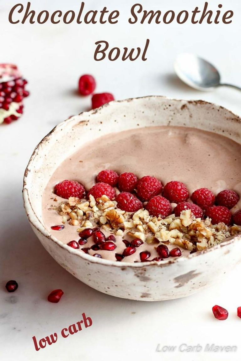 Low Carb Chocolate Smoothie Bowl | Low Carb, Gluten-free, THM | Low Carb Maven