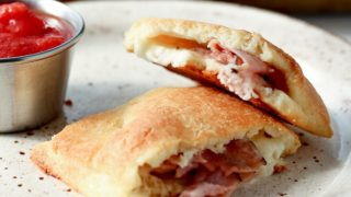 Low Carb Ham and Cheese Hot Pocket Made With Fathead Dough