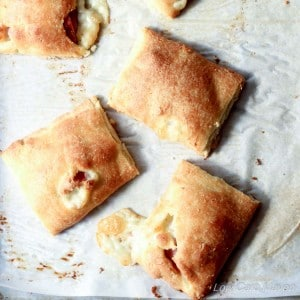Low Carb Ham and Cheese Pockets make a great snack at 3 net carbs each! | low carb, gluten-free, Keto, THM
