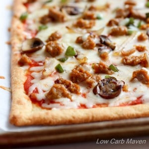 Supreme Low Carb Pizza with Fathead Pizza Crust