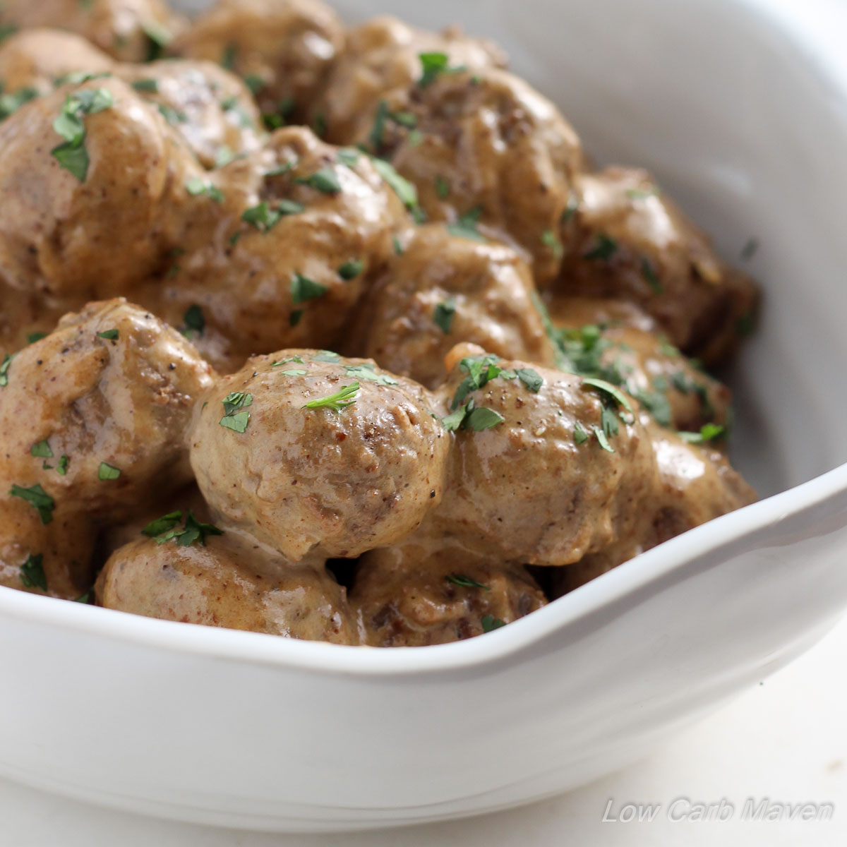 Low Carb Swedish Meatballs | Low Carb Maven